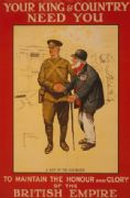 Vintage British WW1 enlisting poster